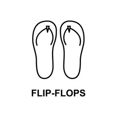 flip-flops icon. Element of summer clothes for mobile concept and web apps. Detailed flip-flops icon can be used for web and mobile. Premium icon