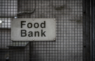 Food Bank Sign