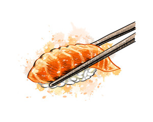 Gunkan sushi with salmon