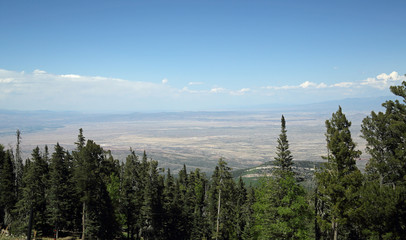 View of the Sedillo area of New Mexico from the top of the Sandia Mountains