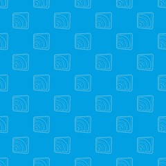 Wireless network sign pattern vector seamless blue repeat for any use