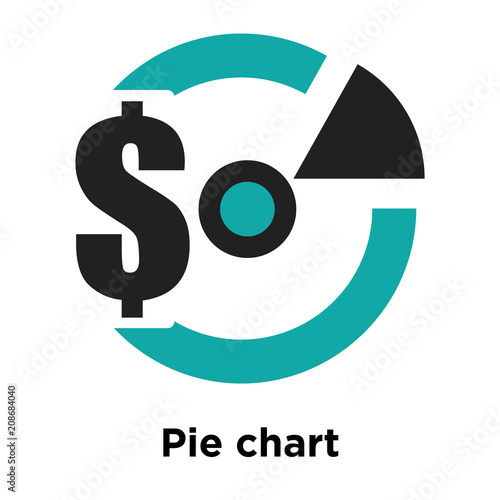 Pie Chart Information On Money Icon Vector Sign And Symbol Isolated