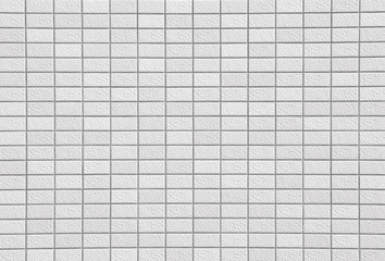 White brick wall texture in horizontal view