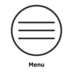 Menu icon vector sign and symbol isolated on white background, Menu logo concept