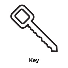Key icon vector sign and symbol isolated on white background, Key logo concept