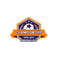 Vector heraldic soccer ball championship icon