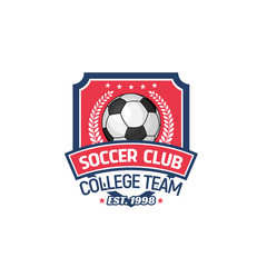 Vector football or soccer college team icon