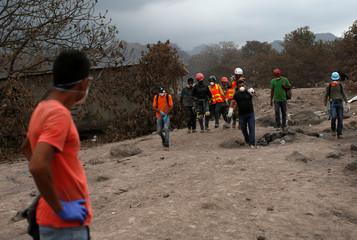 Fuego volcano aftermath at San Miguel Los Lotes in Escuintla