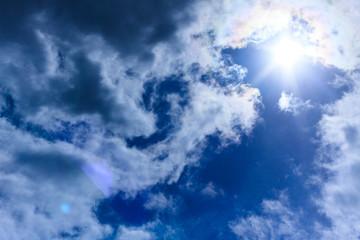summer sky after rain