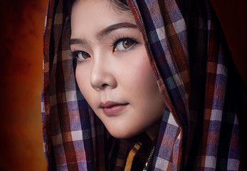 Asian country woman