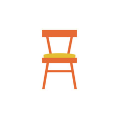 a soft chair flat icon. Element of furniture colored icon for mobile concept and web apps. Detailed a soft chair flat icon can be used for web and mobile. Premium icon