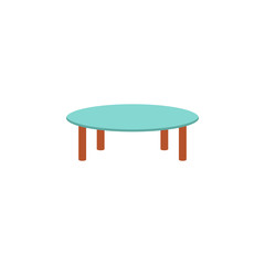 glass coffee table flat icon. Element of furniture colored icon for mobile concept and web apps. Detailed glass coffee table flat icon can be used for web and mobile. Premium icon
