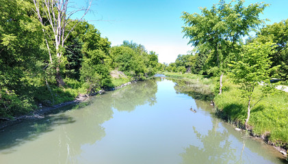 Small river in the summer time, Ontario, Canada