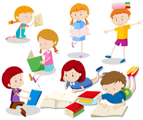 A Set of Kids Reading Book