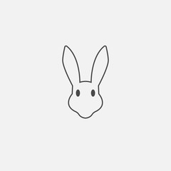 Rabbit line vector icon