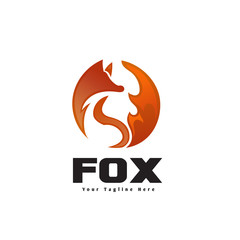 circle stand fox fire logo