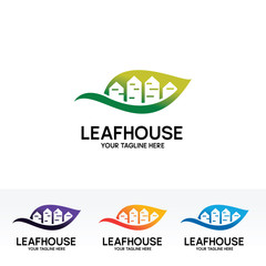 Leaf House Logo Design Template