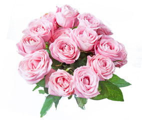 beautiful pink roses bunch