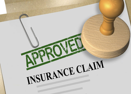 INSURANCE CLAIM APPROVED concept