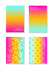 Minimal covers design. Colorful geometric patterns.