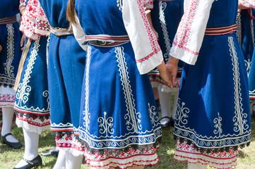 Traditional bulgarian dancers