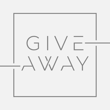 Giveaway banner with minimal typography for contests in social media. Vector illustration with graphic lines on isolated background. Template for banners, ad, print design. Vector editable template.