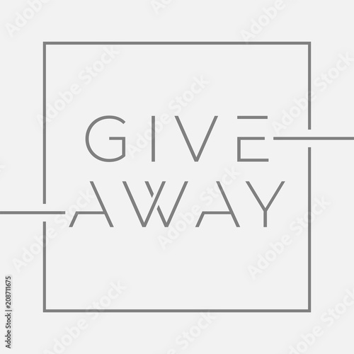 giveaway banner with minimal typography for contests in social media