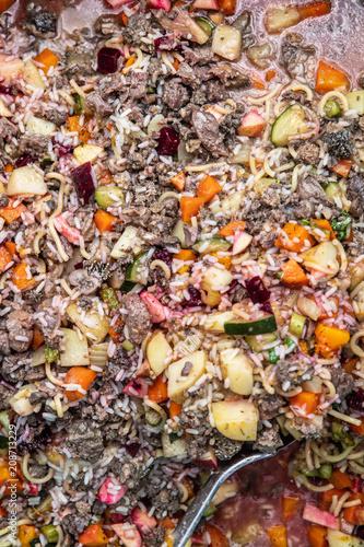 Hundefutter Selber Kochen Rezept Mit Fleisch Reis Und Gemuse