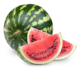 Watermelon fruits Isolated