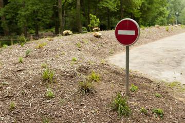 Do not enter sign on rural road