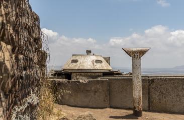 Military bunker on Mount Bental on the Israeli Syrian border
