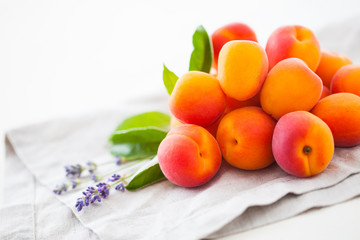 pile of fresh apricots