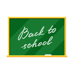 Blackboard illustration. Back to school lettering.
