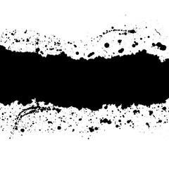 Spray black paint background.Grunge splash banner.