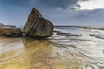 Rocks and Moody Seascape