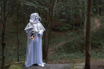 Plague doctor in the forest