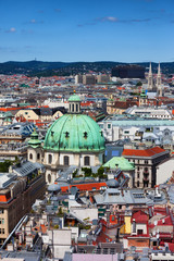 Vienna City Cityscape In Austria