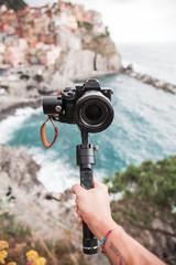 Video camera sul mare con gimbal