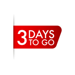 3 days to go. Vector stock illustration.