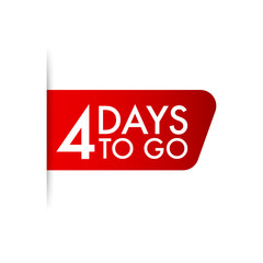 4 days to go. Vector stock illustration.