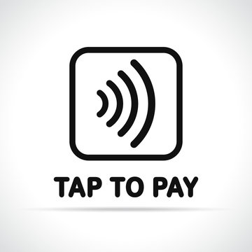 contactless payment icon on white background