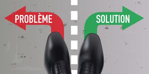 solution - problème - choix - choisir - direction -orientation - concept - flèche - réponse - question