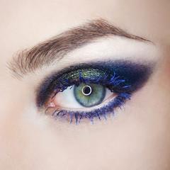 Eye make-up eyebrow lash cosmetic swatch fashion macro photo