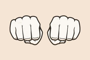 Human fists vector illustration
