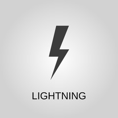 Lightning icon. Lightning symbol. Flat design. Stock - Vector illustration