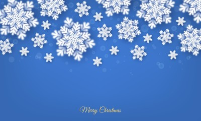 Winter New Year Christmas background with snowflakes
