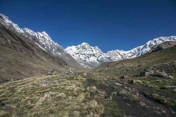 Himalaya Annapurna Sonnenstrahlen Berge Hiking