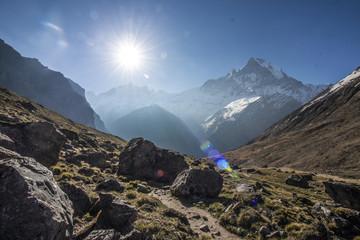 Himalaya Annapurna Berge Hiking Fluss