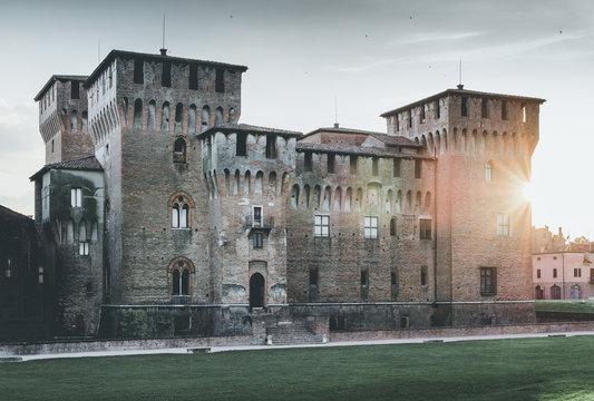 medieval fortress - Gonzaga Saint George castle - Mantua Italy