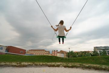 Swing! Always happy childhood